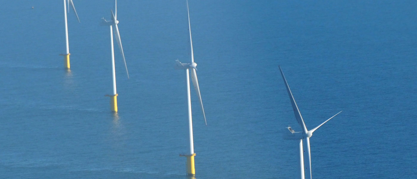 Wind turbines in the ocean